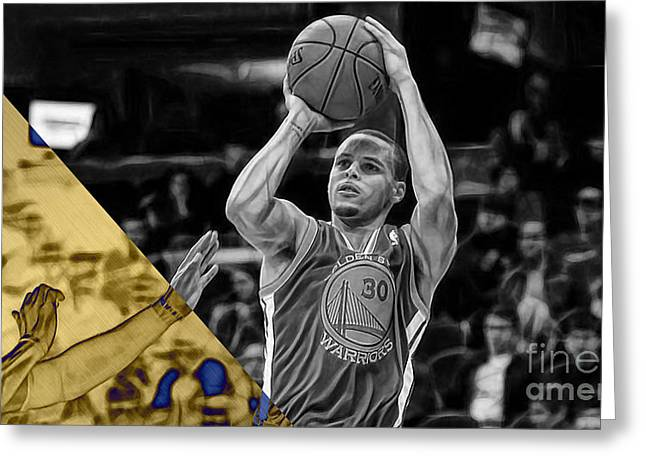 Steph Curry Collection Greeting Card by Marvin Blaine