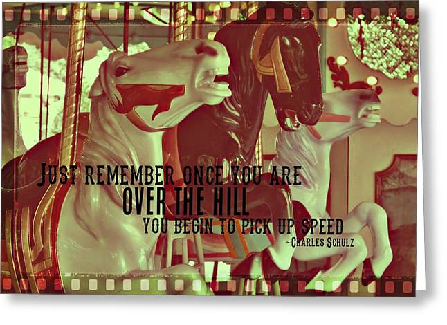 Striking Carousel Quote Greeting Card by JAMART Photography