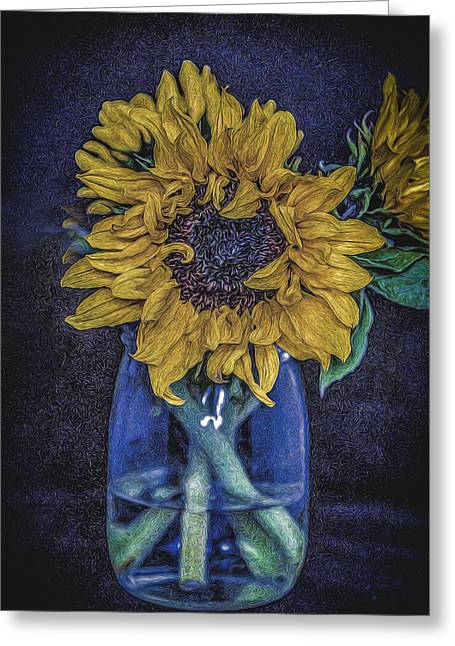 Sunflower Greeting Card by Angela Aird