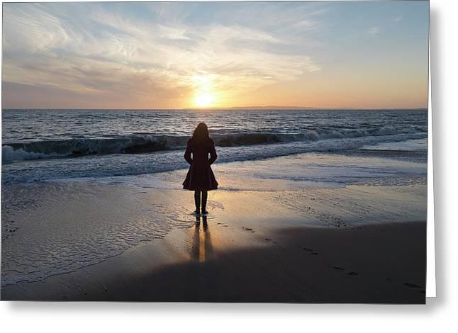 Sunset Greeting Card by Joana Kruse