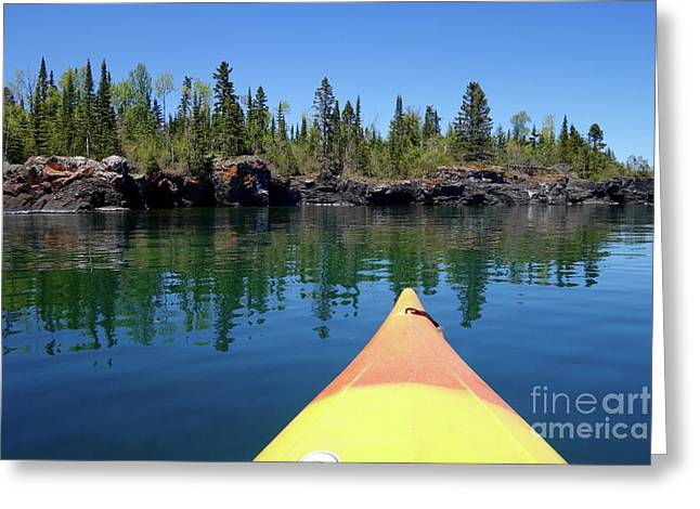 Superior Reflections Greeting Card by Sandra Updyke