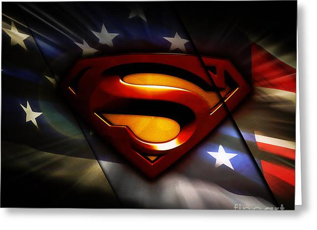 Superman Collection Greeting Card by Marvin Blaine