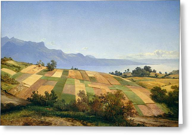 Swiss Landscape Greeting Card by Alexandre Calame