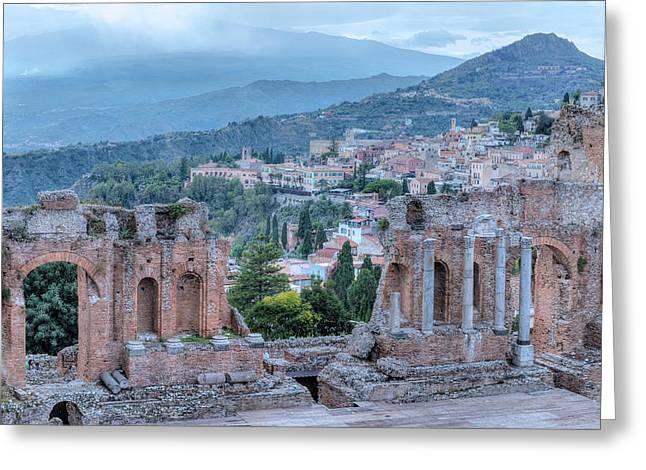 Taormina - Sicily Greeting Card by Joana Kruse