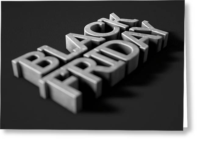Text On Black Greeting Card