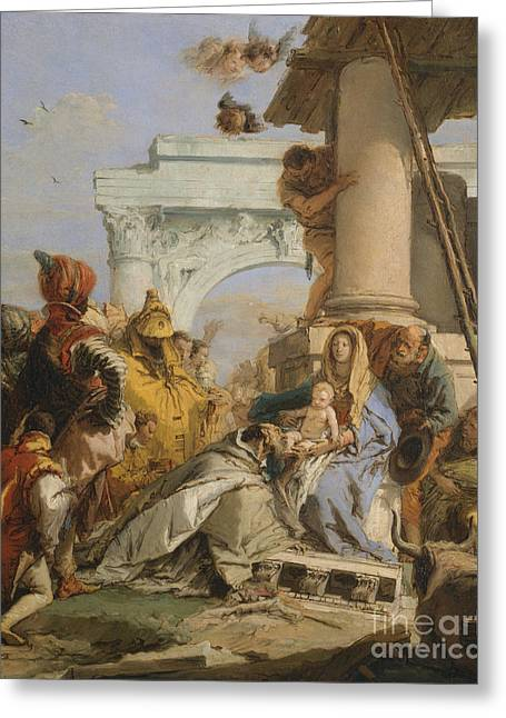 The Adoration Of The Magi Greeting Card by Giovanni Battista Tiepolo