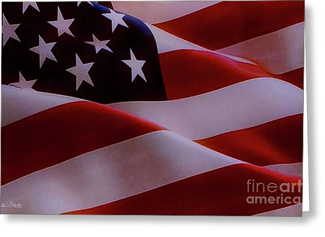 The American Flag Greeting Card by Julian Starks