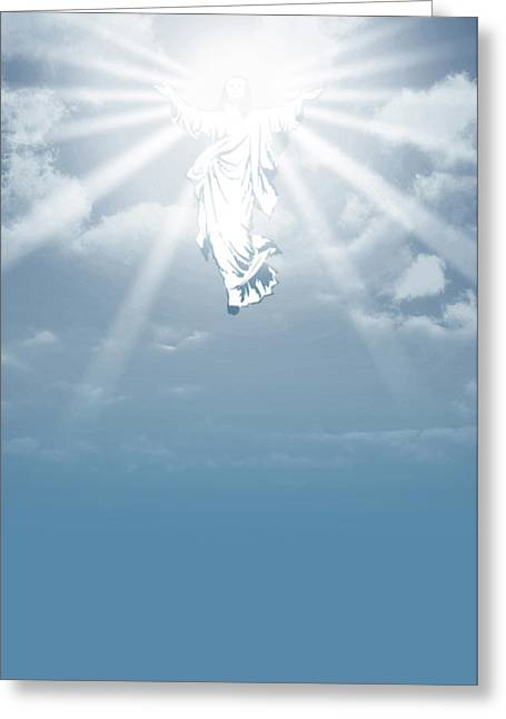 The Ascension And Resurrection Greeting Card