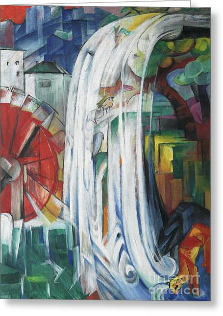 The Bewitched Mill Greeting Card by Franz Marc