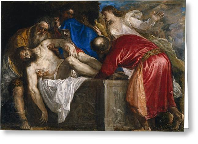 The Burial Of Christ Greeting Card by Titian
