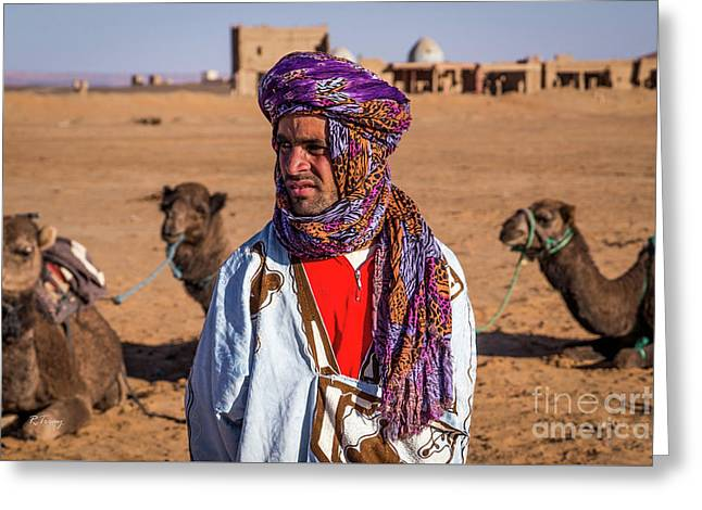 The Camel Driver Up Close Greeting Card