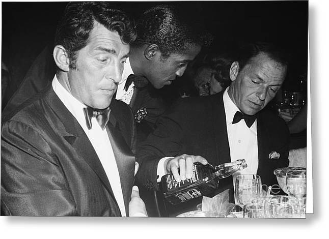 The Cast Of Ocean's 11 And Members Of The Rat Pack. Greeting Card