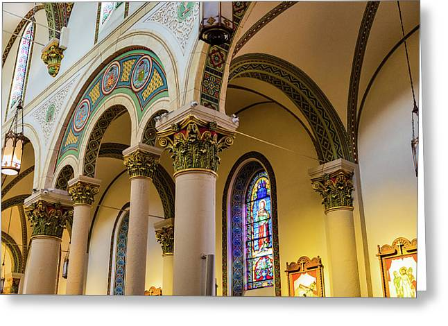The Cathedral Basilica Of St Francis Of Assisi - Santa Fe - New Mexico Greeting Card