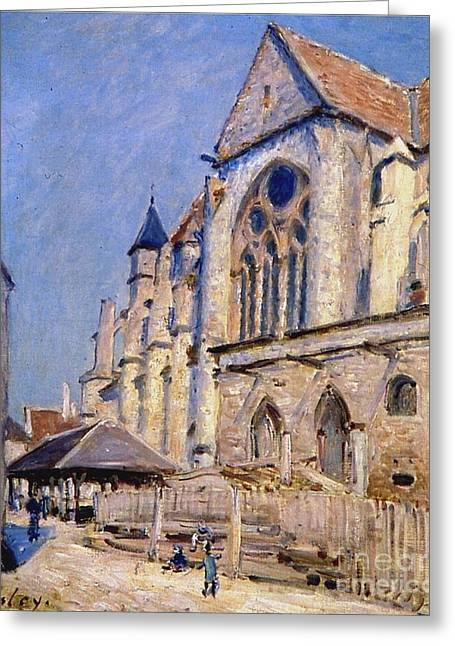 The Church At Moret Greeting Card by MotionAge Designs