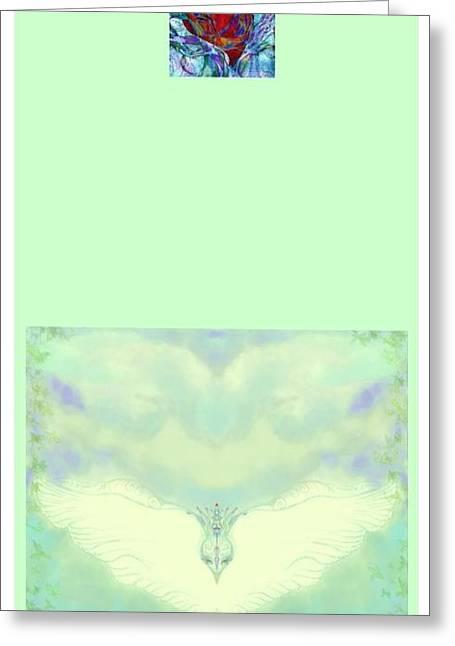 The Dove Blessing Greeting Card by Sandrine Kespi