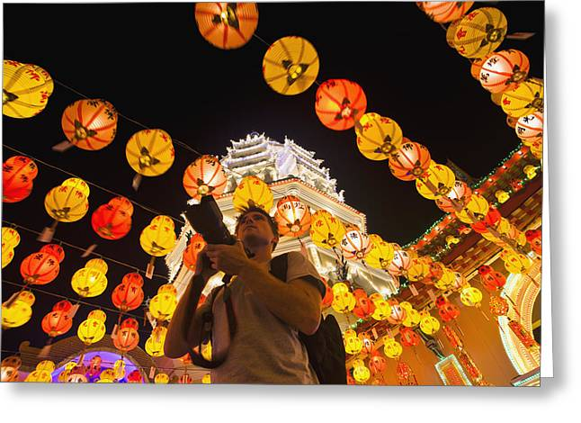 The Fantastic Lighting Of Kek Lok Si Greeting Card by Micah Wright