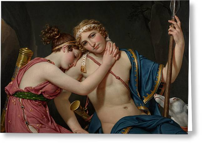 The Farewell Of Telemachus And Eucharis Greeting Card