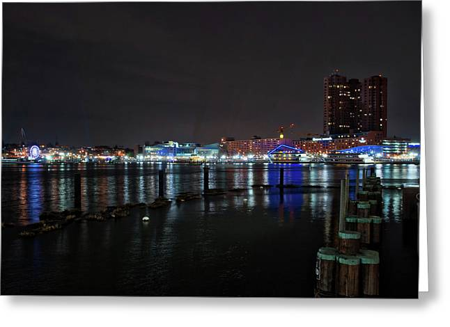 Greeting Card featuring the photograph The Harbor View by Mark Dodd