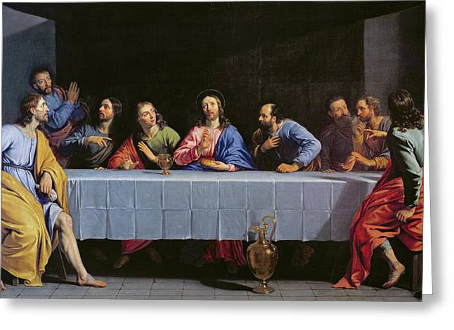 The Last Supper Greeting Card by Philippe de Champaigne