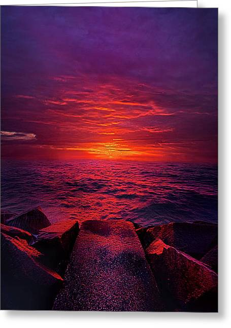 Greeting Card featuring the photograph The Path by Phil Koch