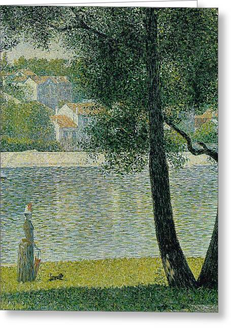 The Seine At Courbevoie Greeting Card by Georges Seurat