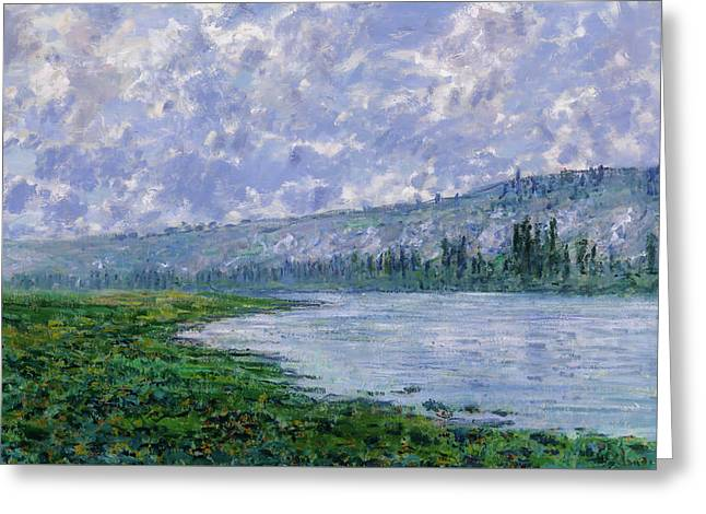 The Seine At Vetheuil Greeting Card