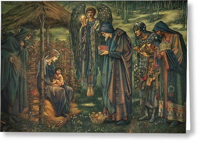 The Star Of Bethlehem Greeting Card by Edward Burne-Jones
