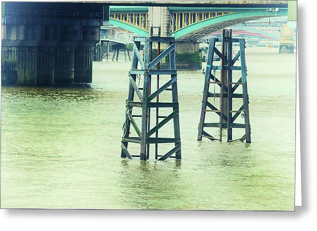 The Thames Greeting Card by Martin Newman