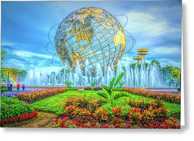 Greeting Card featuring the photograph The Unisphere by Theodore Jones
