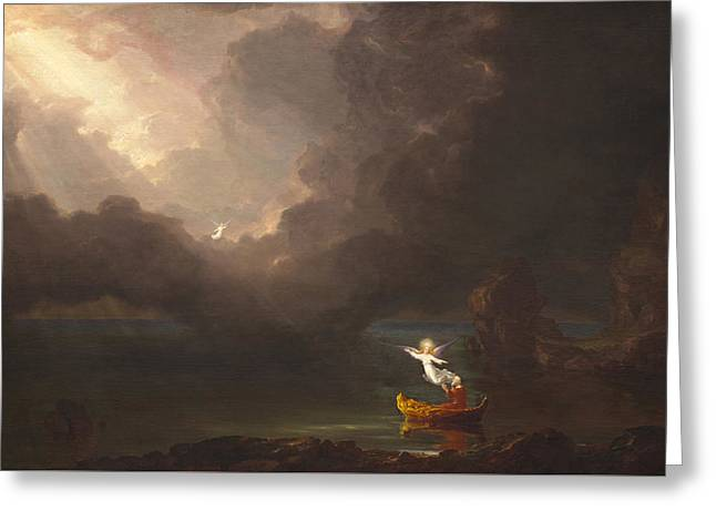 The Voyage Of Life Greeting Card by Thomas Cole