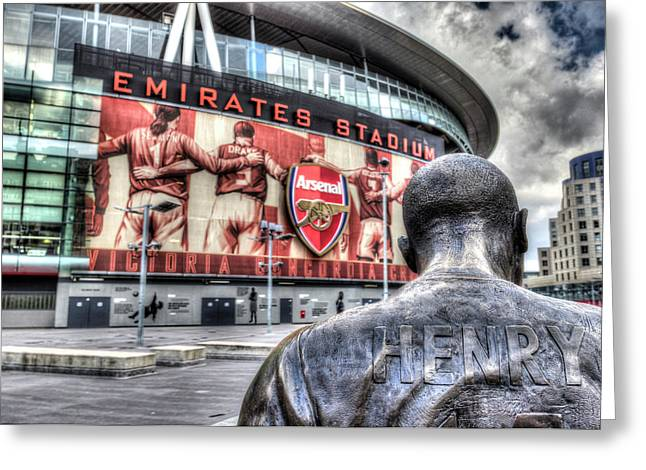 Thierry Henry Statue Emirates Stadium Greeting Card