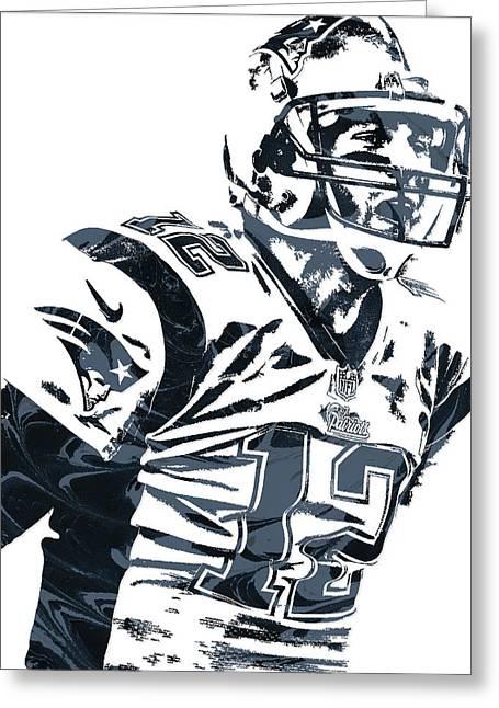 Tom Brady New England Patriots Pixel Art 5 Greeting Card
