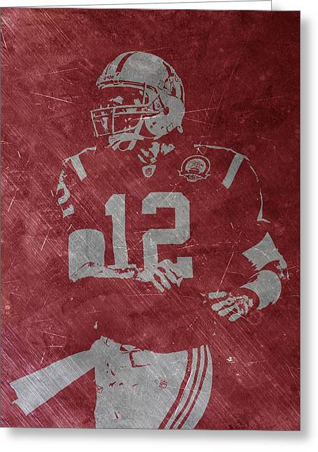 Tom Brady Patriots Greeting Card by Joe Hamilton