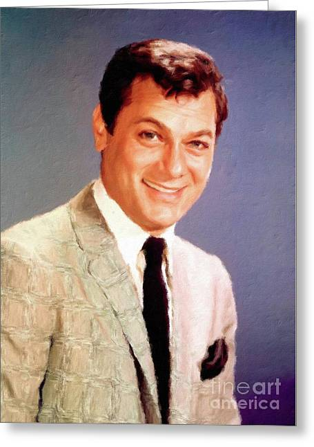 Tony Curtis Vintage Hollywood Actor Greeting Card