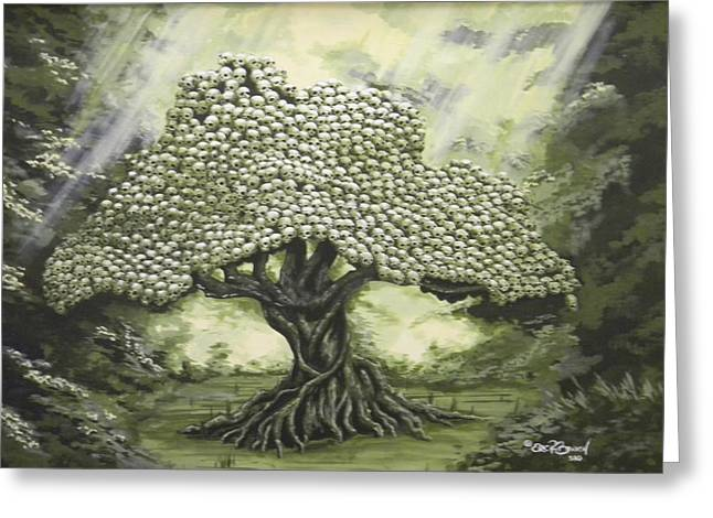 Tree Of Skulls Greeting Card by Eric Barich