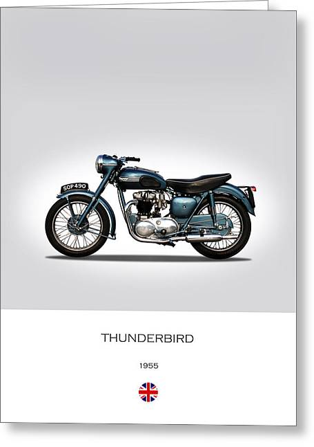Triumph Thunderbird 1955 Greeting Card