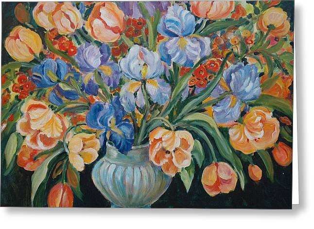 Tulips Greeting Card by Alexandra Maria Ethlyn Cheshire