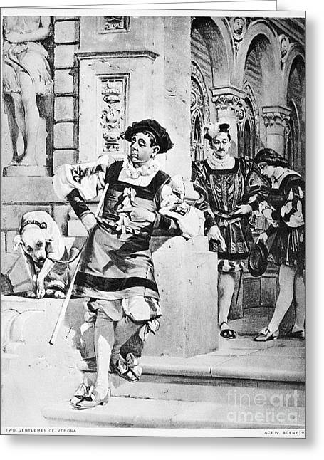 Two Gentlemen Of Verona Greeting Card by Granger