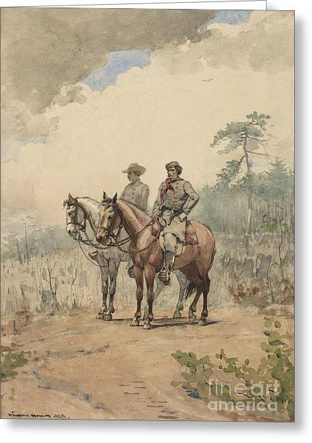 Two Scouts Greeting Card by MotionAge Designs