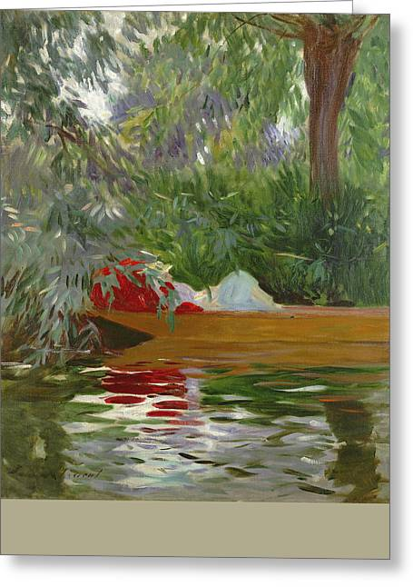 Under The Willows Greeting Card by John Singer Sargent