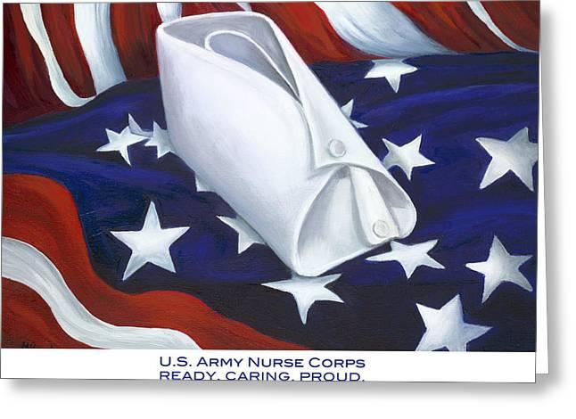 U.s. Army Nurse Corps Greeting Card by Marlyn Boyd