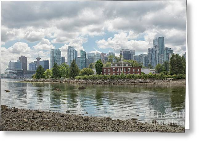 Vancouver Skyline Greeting Card by Patricia Hofmeester