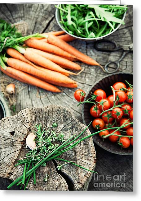 Vegetables Greeting Card by Mythja Photography
