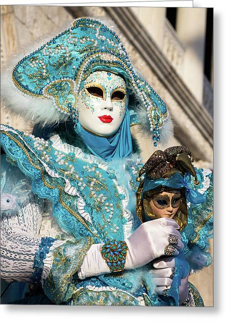 Venice Carnival - Masks And Costumes Greeting Card