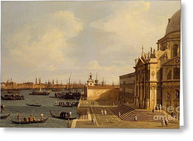 Venice  Santa Maria Della Salute Greeting Card by Canaletto