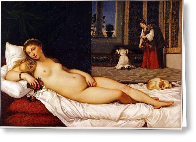 Venus Of Urbino Greeting Card by Titian