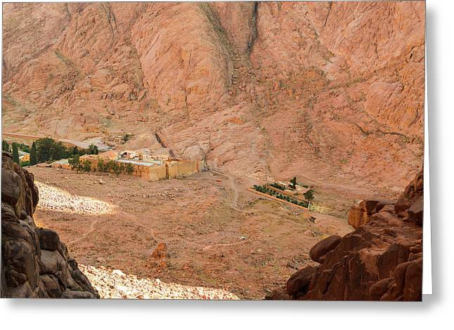 View At St. Catherine's Monastery From Monks Path Greeting Card by Khristina Ripak