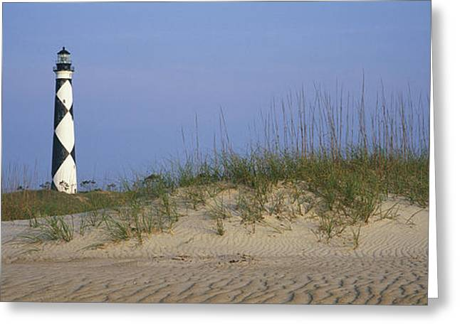 View Of Cape Lookout Lighthouse Greeting Card by Stephen Alvarez