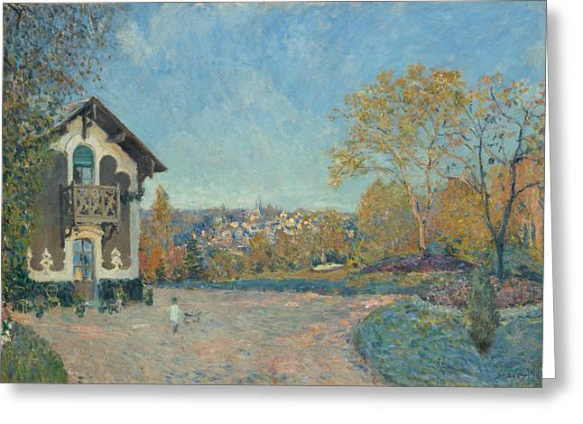 View Of Marly-le-roi From Coeur-volant Greeting Card by Alfred Sisley