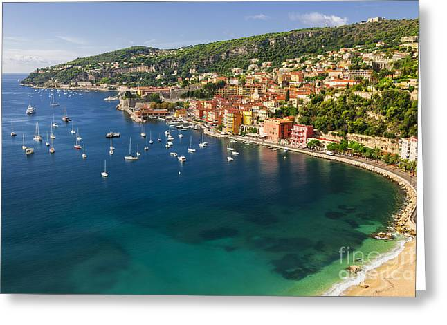 Villefranche-sur-mer View On French Riviera Greeting Card